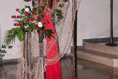 kfd - ein Netz das trägt, im Blumenschmuck arrangiert